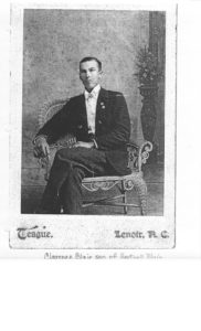 Photo of Clarence Blair son of Hartwell Spain Blair & nephew of Sarah Jane Blair Oxford