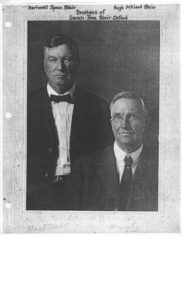 Hartwell Spain Blair & Hugh McLeod Blair brothers of Sarah Jane Blair Oxford