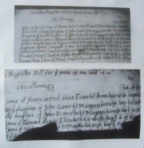 Henry Evans document changing his name to Henry Oxford