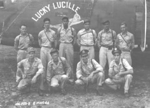 Kens Men - Stand in Front of their Plane the Lucky Lucille on 2 March 1944