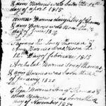 Original Document Listing the Family of Thomas Barnes (1790) and Joann Murphy. Thomas was the son of Deaf John, Image 1 of 2.