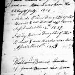 Original Document Listing the Family of Thomas Barnes (1790) and Joann Murphy. Thomas was the son of Deaf John, Image 2 of 2.