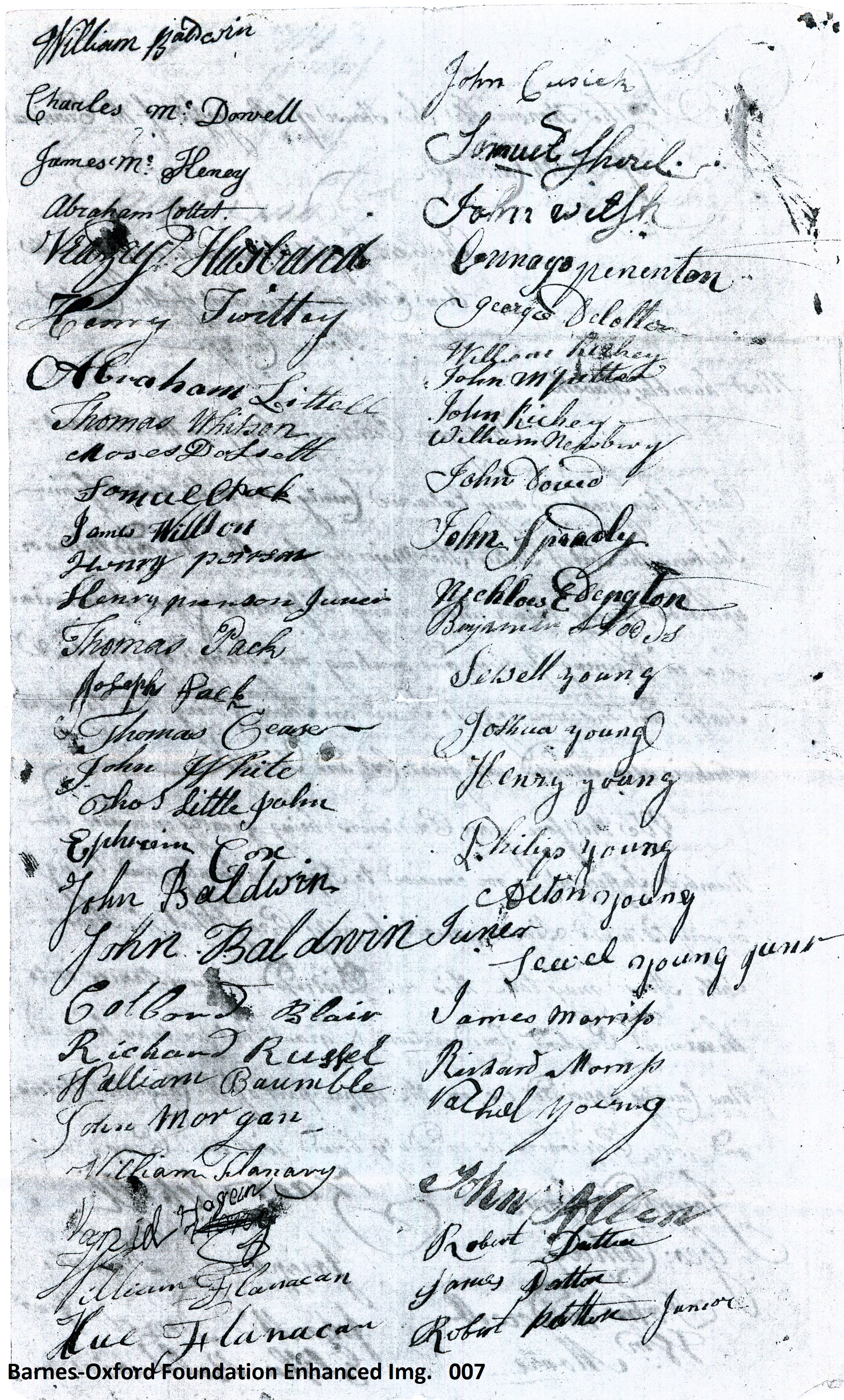 Petition Dividing Rowan creating Burke Co. 27 Nov. 1771 pg 7 of 9